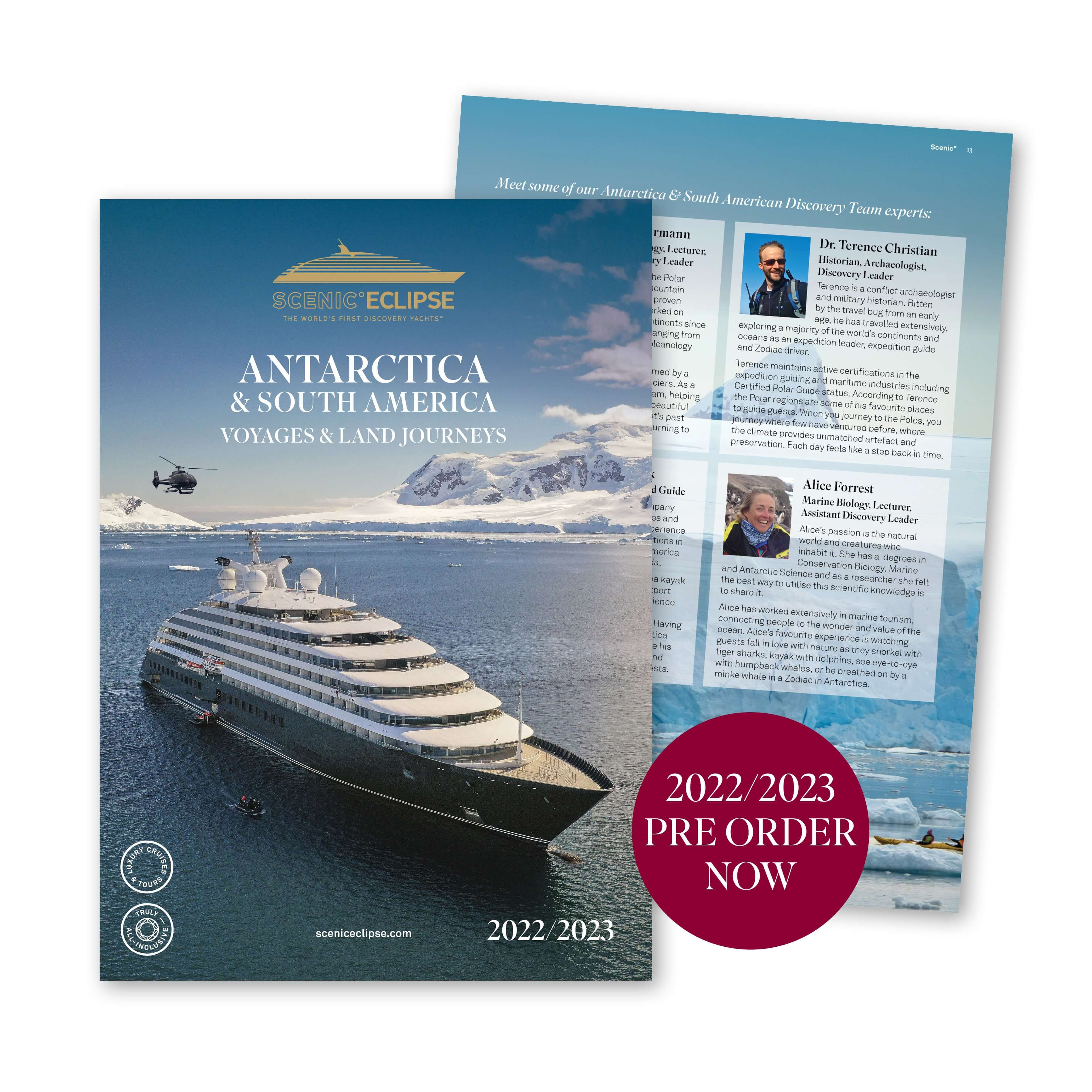 Antarctica and South America 2022-2023 Pre-Order Brochure