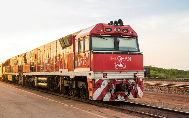 The Ghan train front