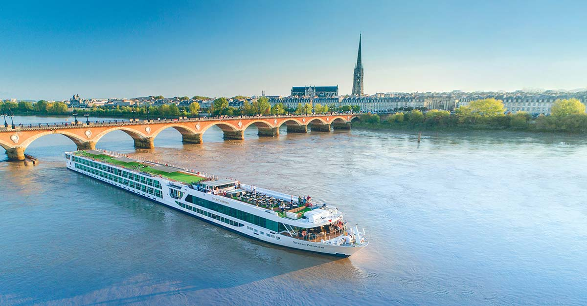 Scenic  Diamond Cruise space Ship on a European River, European cruises