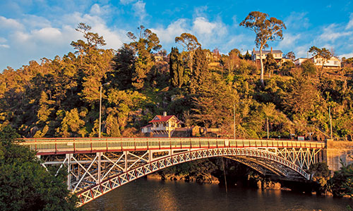 Ride on the world's longest single-span chairlift in Launceston