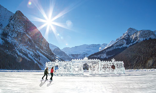 Christmas in the Rockies - Lake Louise Ice Skating