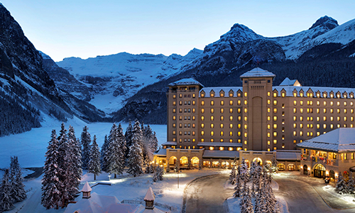 Fairmont Chateau Lake Louise in Winter, Canada